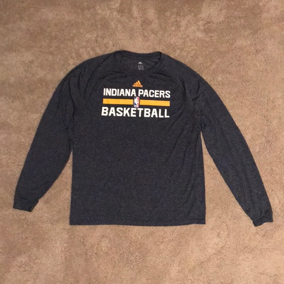 huge discount 5a675 6138a adidas Indiana Pacers Long Sleeve Shirt